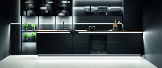 Keuken met ledstrip verlichting