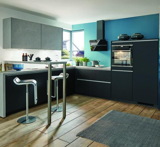Keuken met hoge bar opstelling