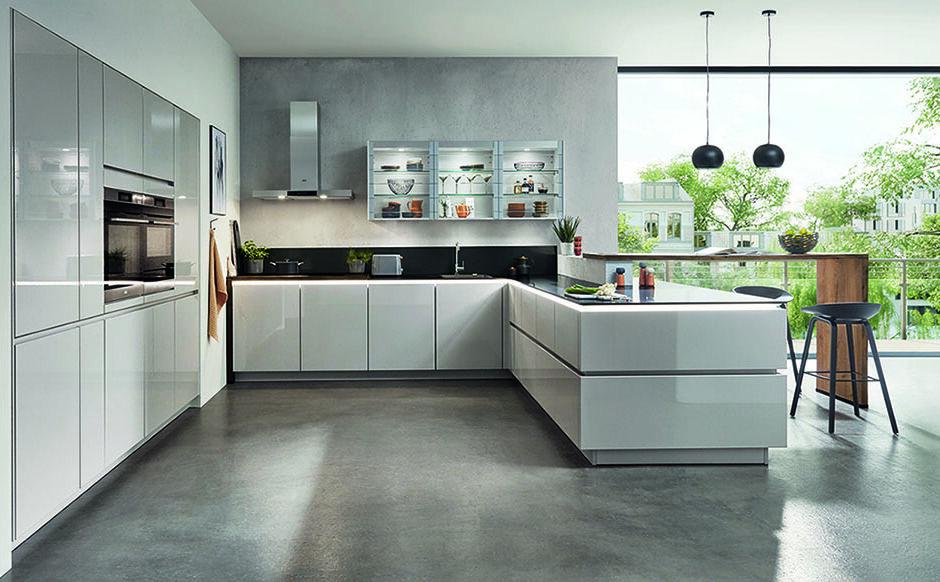 Witte keukens met ledstrip
