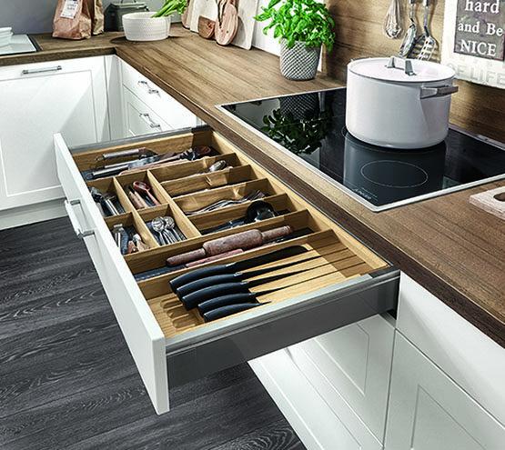 Keuken besteklade indeling