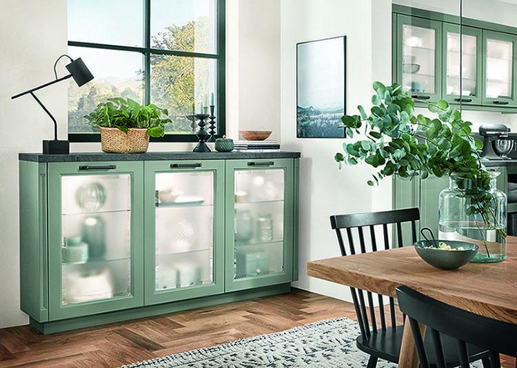 Landelijke groen keuken